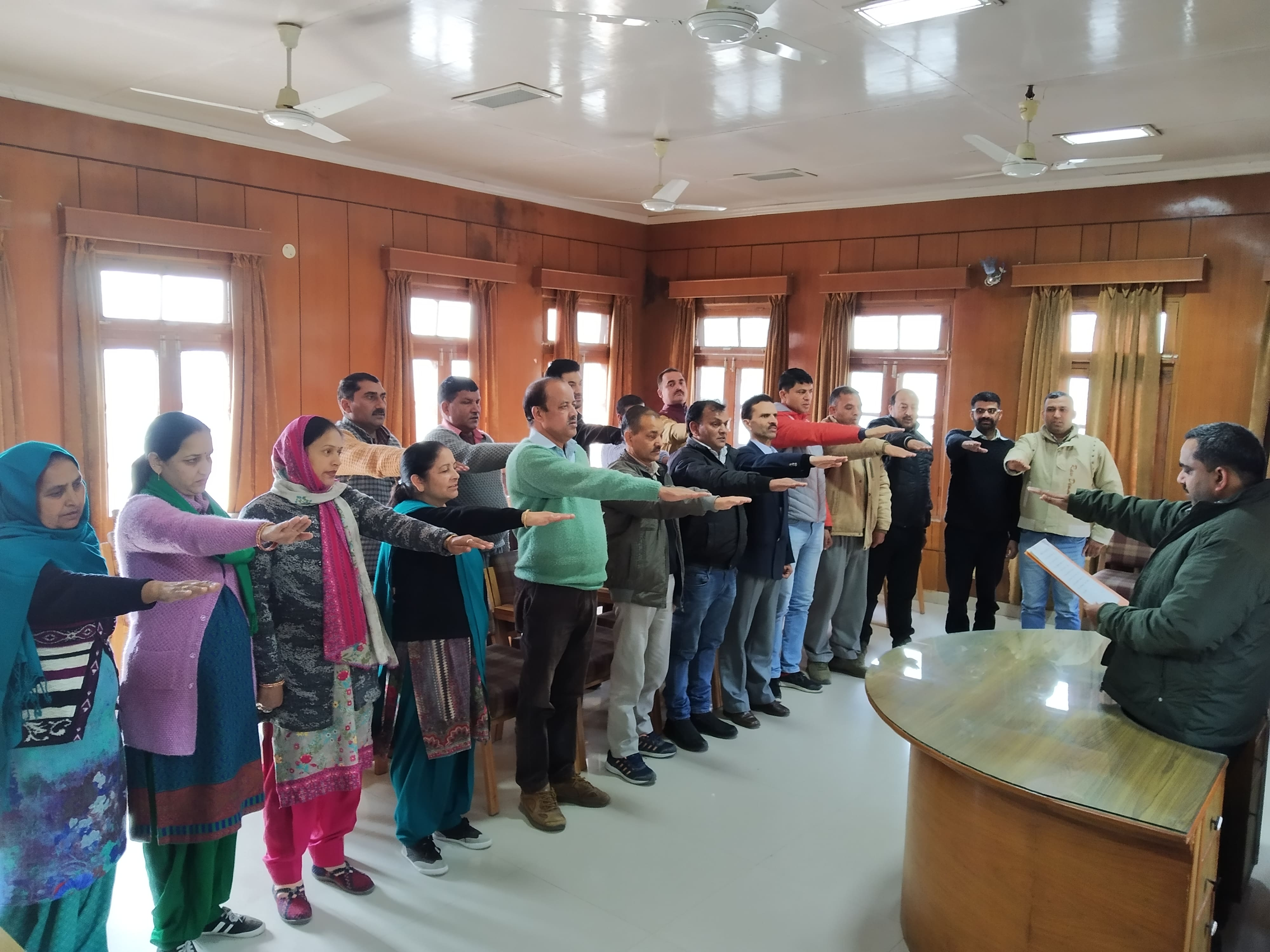 HIMPESCO Staff taking pledge on National Voter's Day  on 25th January, 2019