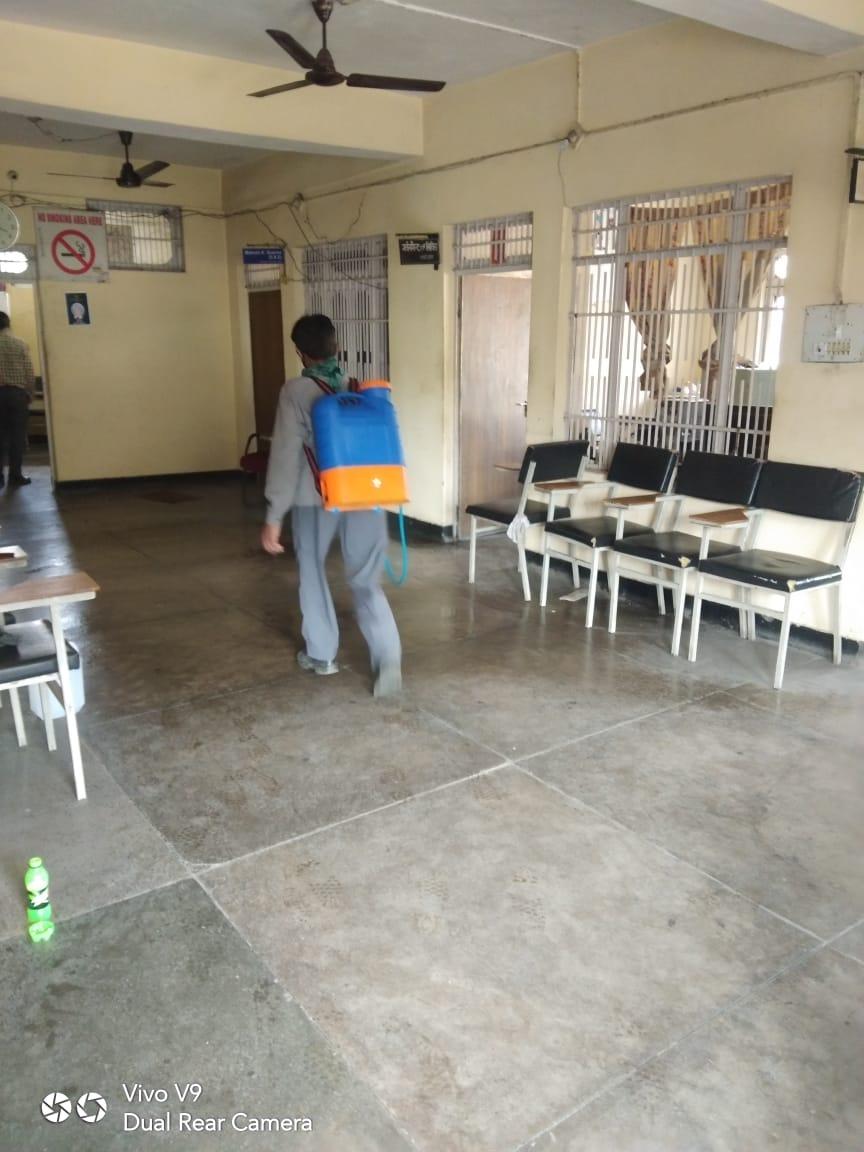 Sanitization of Camp Office Barmana - Pandemic COVID-19