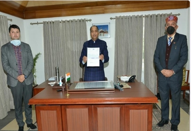 Cheque of Rs. 51 lakh presented to Hon'ble Chief Minister  Sh. Jai Ram Thakur